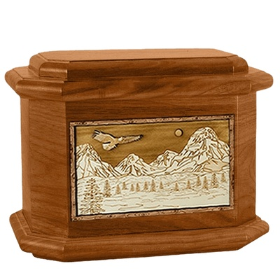 Mount Splendor Mahogany Octagon Cremation Urn