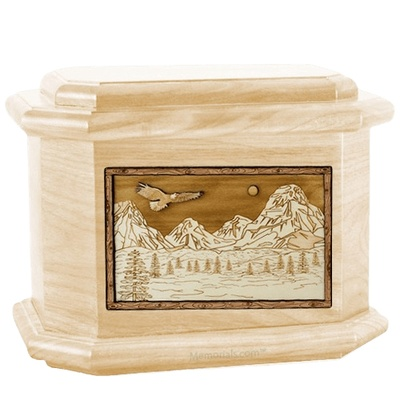 Mount Splendor Maple Octagon Cremation Urn