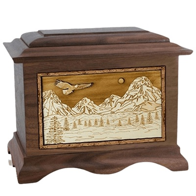 Mount Splendor Walnut Cremation Urn