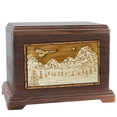 Mount Splendor Walnut Hampton Cremation Urn