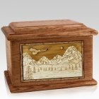 Mount Splendor Walnut Memory Chest Cremation Urn