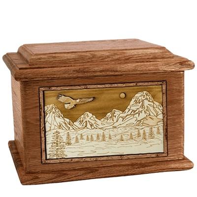 Mount Splendor Walnut Memory Chest Cremation Urn