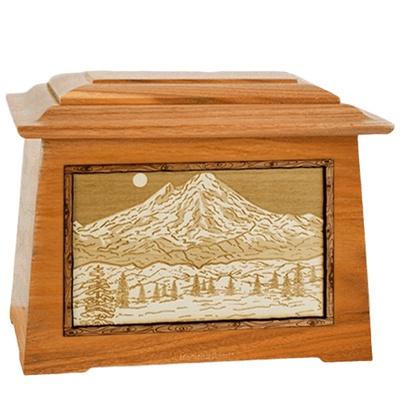 Mt Baker Mahogany Aristocrat Cremation Urn