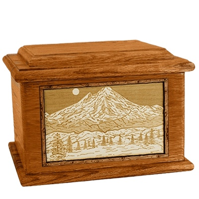 Mt Baker Mahogany Memory Chest Cremation Urn
