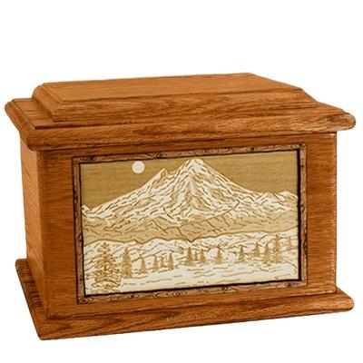 Mt Baker Mahogany Memory Chest Cremation Urn