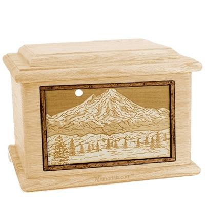 Mt Baker Maple Memory Chest Cremation Urn
