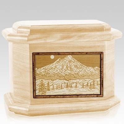 Mt Baker Maple Octagon Cremation Urn
