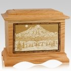 Mt Baker Oak Cremation Urn