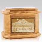 Mt Baker Oak Octagon Cremation Urn