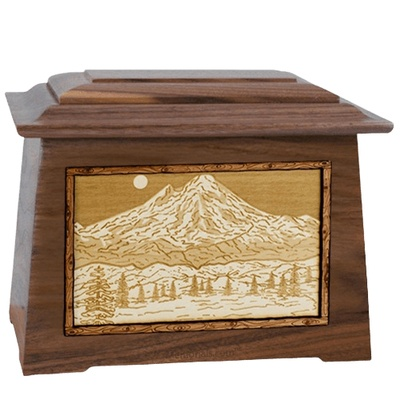 Mt Baker Walnut Aristocrat Cremation Urn