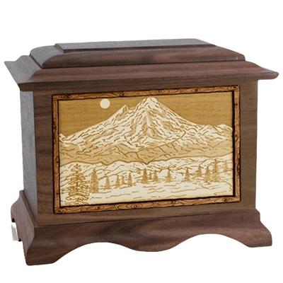 Mt Baker Walnut Cremation Urn