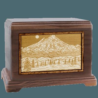 Mt Baker Walnut Hampton Cremation Urn