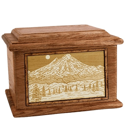 Mt Baker Walnut Memory Chest Cremation Urn