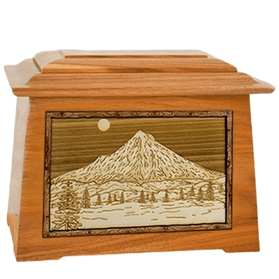 Mt Hood Mahogany Aristocrat Cremation Urn