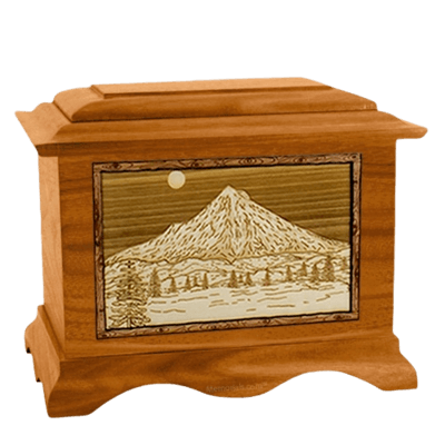Mt Hood Mahogany Cremation Urn