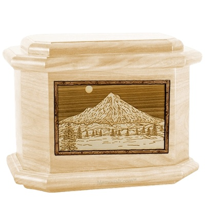 Mt Hood Maple Octagon Cremation Urn