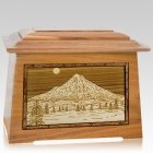 Mt Hood Oak Aristocrat Cremation Urn