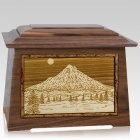 Mt Hood Walnut Aristocrat Cremation Urn