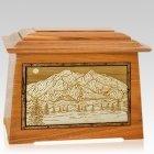 Mt McKinley Mahogany Aristocrat Cremation Urn