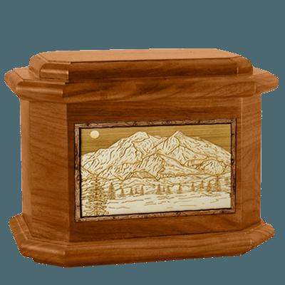 Mt McKinley Mahogany Octagon Cremation Urn