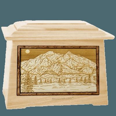 Mt McKinley Maple Aristocrat Cremation Urn