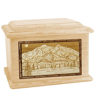 Mt McKinley Maple Memory Chest Cremation Urn