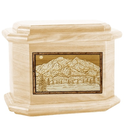 Mt McKinley Maple Octagon Cremation Urn