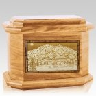 Mt McKinley Oak Octagon Cremation Urn