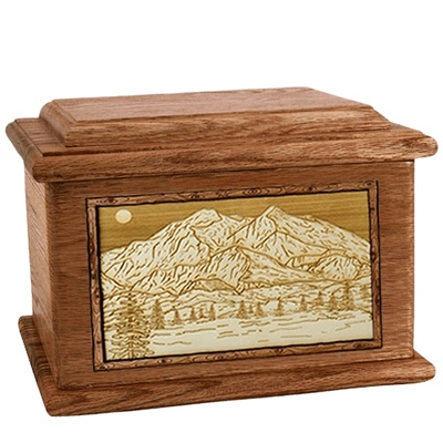 Mt McKinley Walnut Memory Chest Cremation Urn