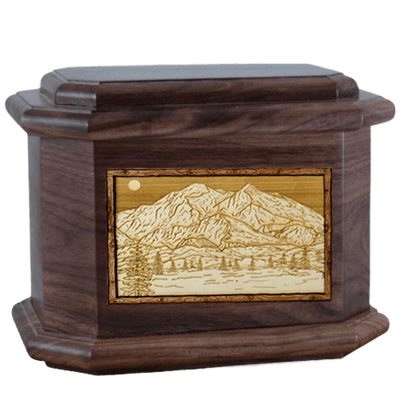 Mt McKinley Walnut Octagon Cremation Urn