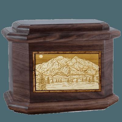 Mt McKinley Walnut Octagon Cremation Urn