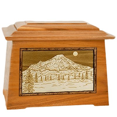 Mt Rainier Mahogany Aristocrat Cremation Urn
