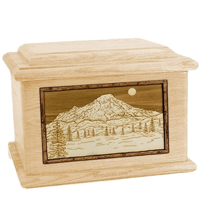 Mt Rainier Maple Memory Chest Cremation Urn