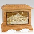 Mt Rainier Oak Cremation Urn