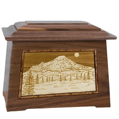 Mt Rainier Walnut Aristocrat Cremation Urn