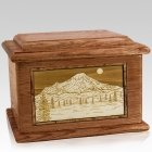 Mt Rainier Walnut Memory Chest Cremation Urn