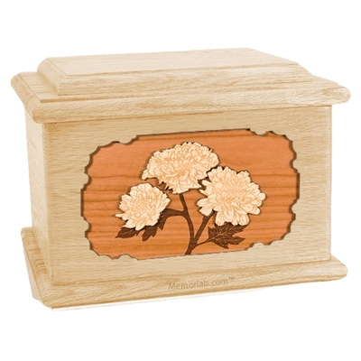 Mums Maple Memory Chest Cremation Urn