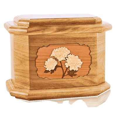 Mums Oak Octagon Cremation Urn