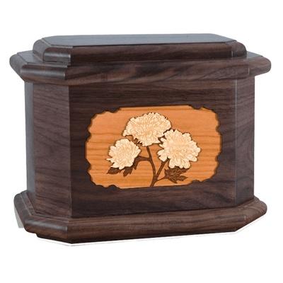Mums Walnut Octagon Cremation Urn