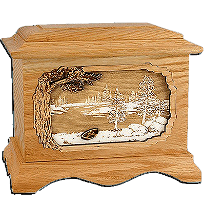 New Lake Oak Cremation Urn For Two