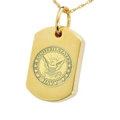 Navy Dog Tag Cremation Pendant IV