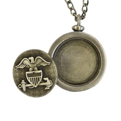Navy Urn Pendant