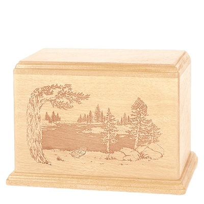 New Lake Companion Maple Wood Urn