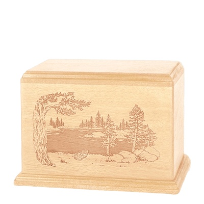 New Lake Individual Maple Wood Urn