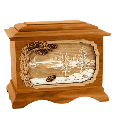 New Lake Mahogany Cremation Urn