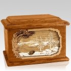 New Lake Mahogany Memory Chest Cremation Urn