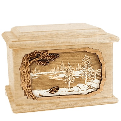 New Lake Maple Memory Chest Cremation Urn