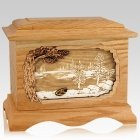 New Lake Oak Cremation Urn