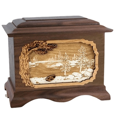 New Lake Walnut Cremation Urn