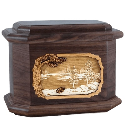 New Lake Walnut Octagon Cremation Urn